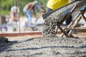 Pouring Concrete onto Ground